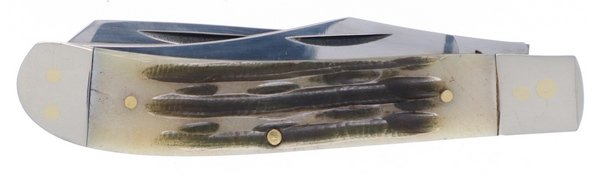 Frost Cutlery Torched Autumn Second Cut Genuine Bone Bullet Trapper 14-024ASC