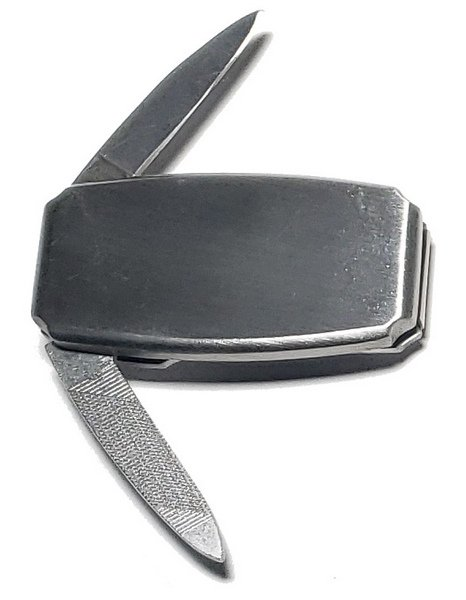 Frost Cutlery All Stainless Steel Money Clip with Knife and Nail File 15-447SS