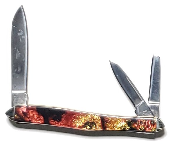Prater Customs Hen and Rooster Firestorm 3-Blade Swell Center Whittler 233-MPHA