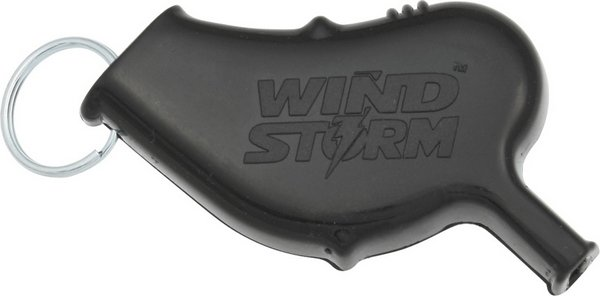 All-Weather Black Windstorm Safety Whistle AW5BK