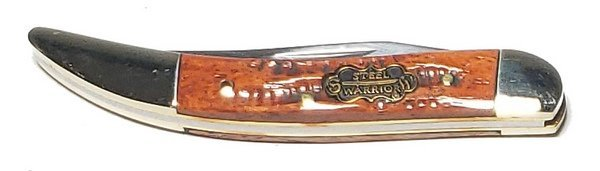 Steel Warrior Brown Molasses Jigged Genuine Bone Little Texas Toothpick SW-109BRMJ