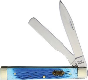 Steel Warrior Dark Blue Jigged Genuine Bone Doctor's Knife SW-120DBLJ
