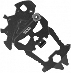 SOG Black Stainless Steel MacV Keychain Tool SM1001-CP