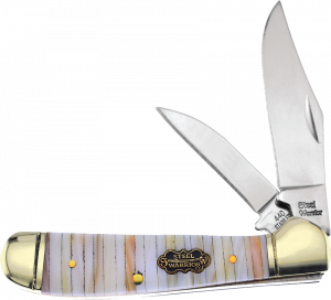 Steel Warrior Genuine Mother of Pearl and Oyster Shell Bar Locking Copperhead SW-104PT