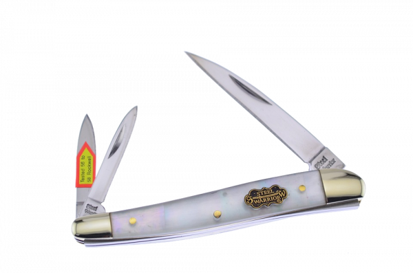 Steel Warrior Genuine Mother of Pearl Wharncliffe Whittler SW-167SMOP