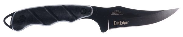 ElitEdge Black ABS Tactical Combat Skinner Fixed Blade with ABS Tactical Sheath 20-647