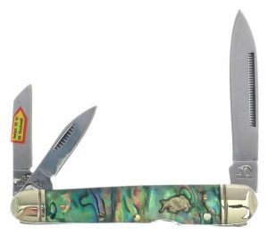 Bulldog Brand Genuine Abalone Locking Whittler BDG-116AB