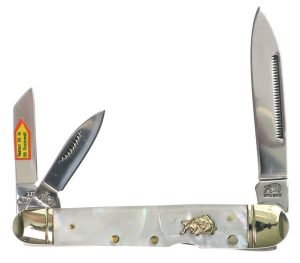 Bulldog Brand Genuine Mother of Pearl Locking Whittler BDG-116MOP