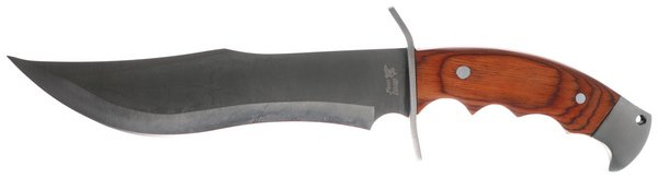 Frost Cutlery Red Pakkawood Frontiersman Bowie 18-314PW