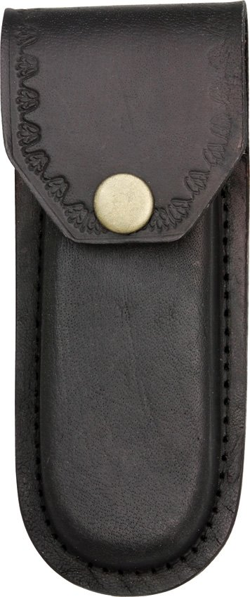 Pakistan Cutlery Black Leather Sheath - Fits Knives Up To 5in Closed PA3326BK