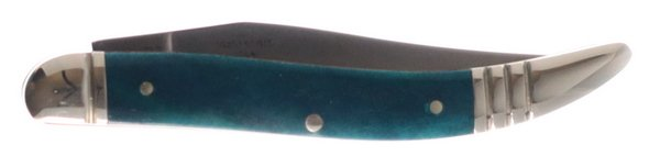 Rough Ryder Deep Blue to Deep Teal Smooth Genuine Bone Little Texas Toothpick RR1953