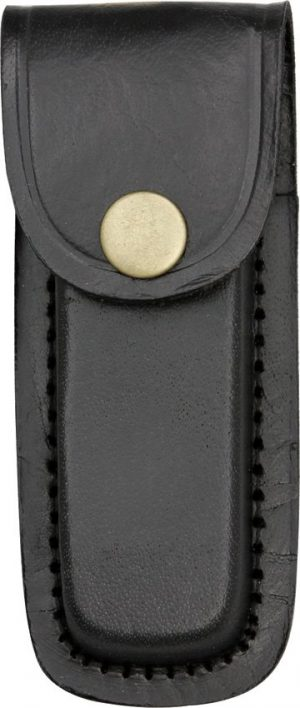 Pakistan Cutlery Black Leather Sheath - Fits Knives Up To 4in Closed SHE-2033224