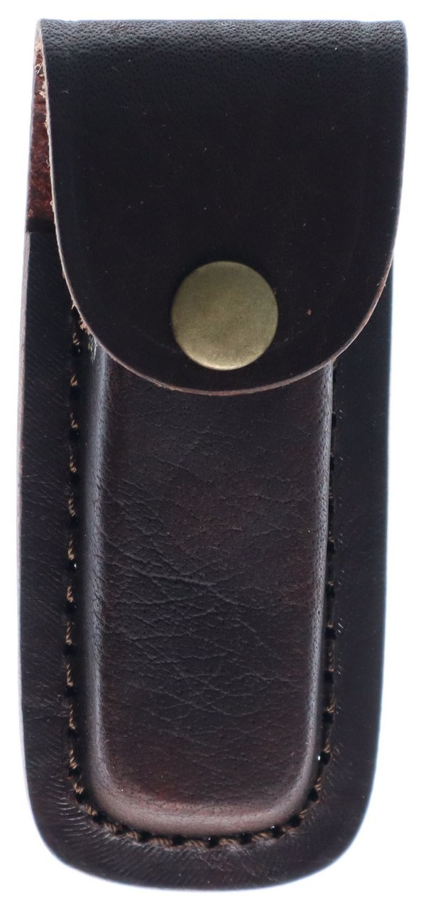 Pakistan Cutlery Brown Leather Sheath - Fits Knives Up To 4in Closed SHE-2033234