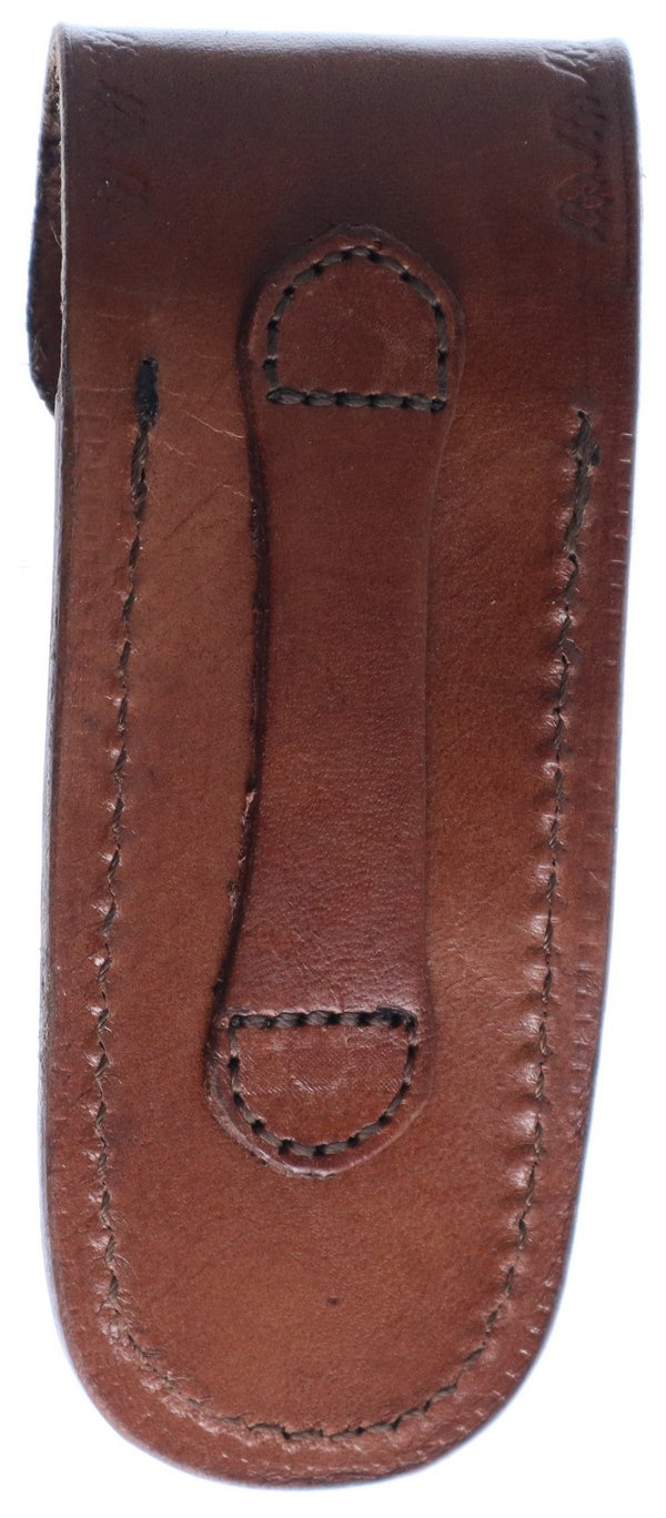 Pakistan Cutlery Brown Leather Sheath - Fits Knives Up To 5in Closed SHE-203326BR