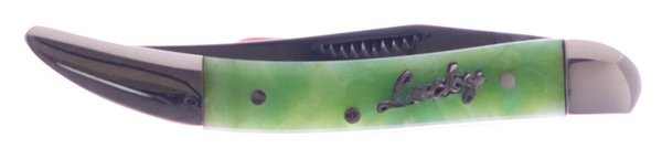 Uncle Lucky Collection by Steel Warrior Green Swirl Resin Little Texas Toothpick ULSW-109G