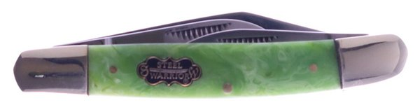 Uncle Lucky Collection by Steel Warrior Green Swirl Resin Wrangler Stockman ULSW-112G