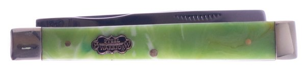 Uncle Lucky Collection by Steel Warrior Green Swirl Resin Doctors Knife ULSW-120G