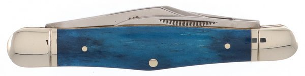 Rough Ryder Navy Blue or Deep Teal Smooth Genuine Bone Swell Center Whittler RR1948